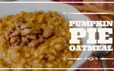 Pumpkin Pie Protein Oatmeal