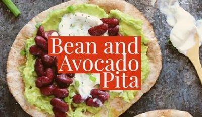 Bean and Avocado Pita