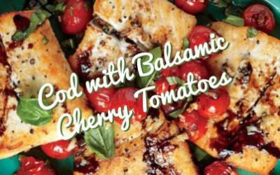 Cod with Balsamic Cherry Tomatoes