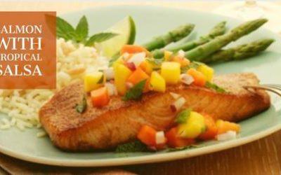 Salmon with Tropical Salsa