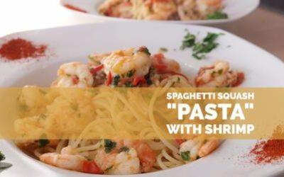 "Spaghetti Squash ""Pasta"" with Shrimp"