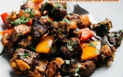 Flank Steak Bites with Veggies & Sweet Potatoes