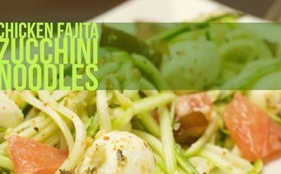 Chicken Fajita Zucchini Noodles