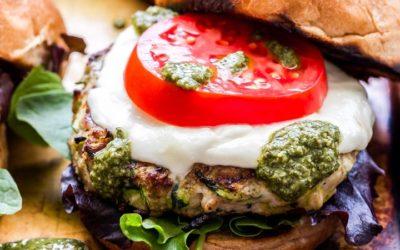 Pesto Turkey Burgers