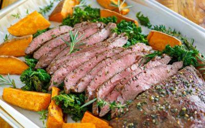 Sheet Pan Flank Steak and Roasted Vegetables