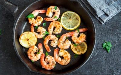 Lemon Garlic Shrimp Skillet