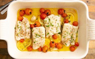 Lemony Baked Cod