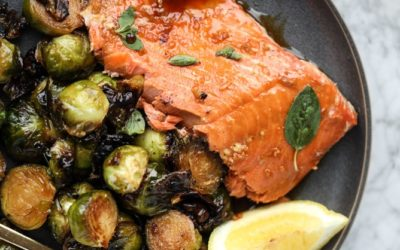 Balsamic Salmon and Brussels