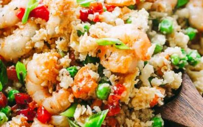 Honey Garlic Shrimp and Cauliflower Rice