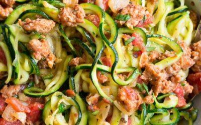 Turkey Zucchini Noodle Bowl