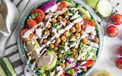 Air Fryer Mediterranean Chickpea Bowl