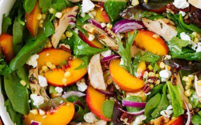 Summer Peach Salad with Chicken