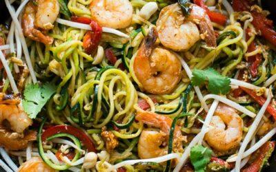 Shrimp and Veggie Pad Thai