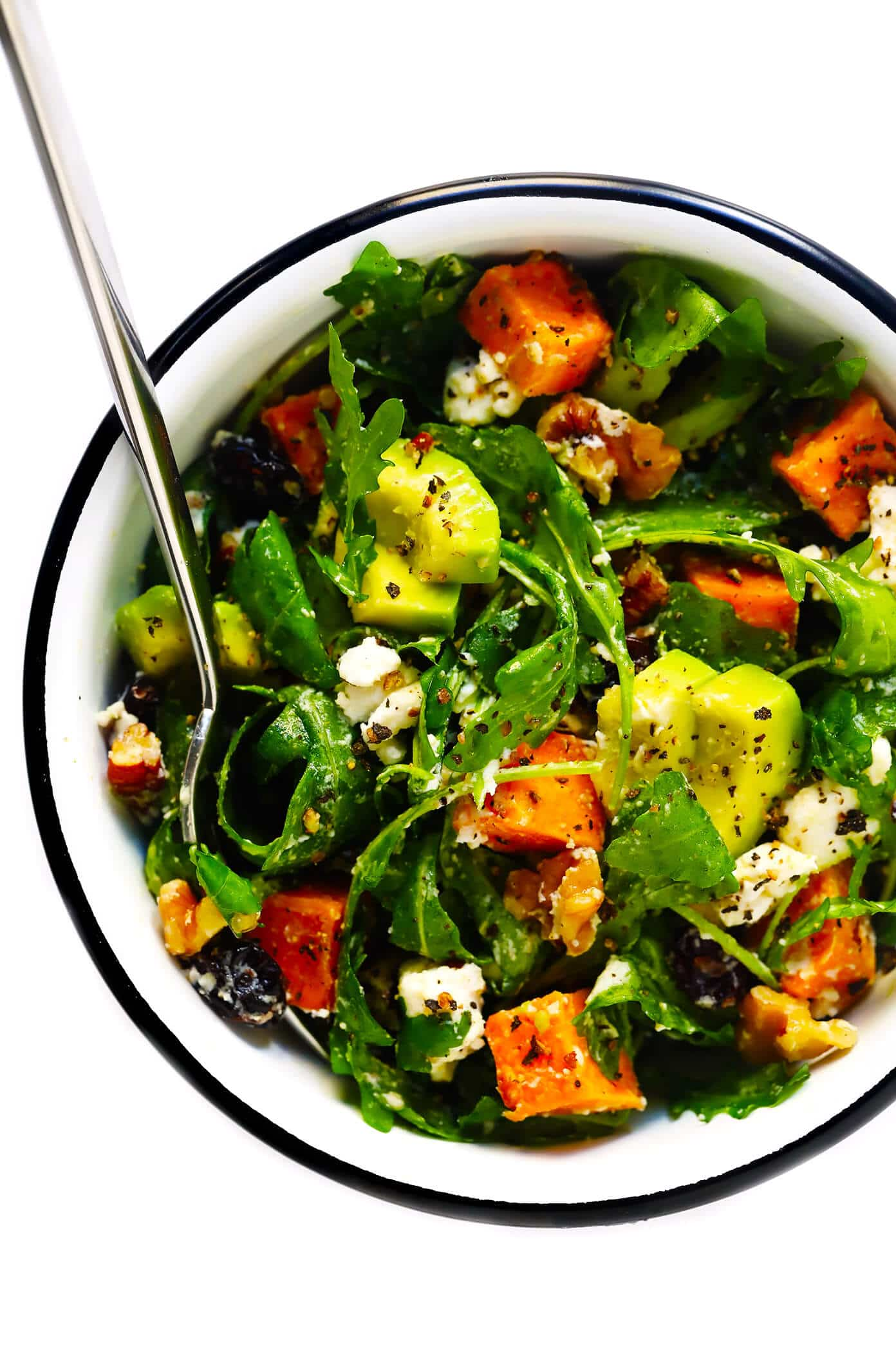 fresh fall salad in bowl